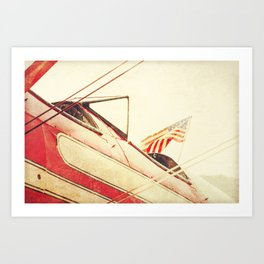 Salute // Antique Airplane Art Print