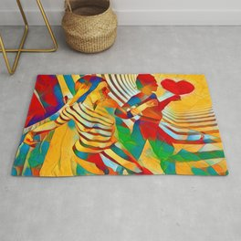 7586s-MM Red Shadow Heart Catch Cherish Set Free Abstract Romantic Love Rug