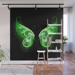 Green Fairy Wings Wall Mural