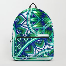Sacred Places Green Backpack