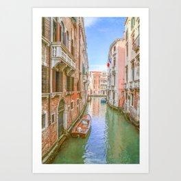 A Venetian Canal Art Print