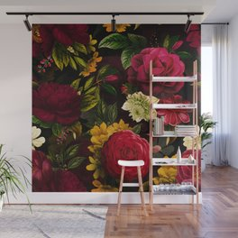 Vintage & Shabby Chic - Mystical Night Roses Bouquet Wall Mural