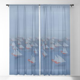 May visiting East - shoes stories Sheer Curtain