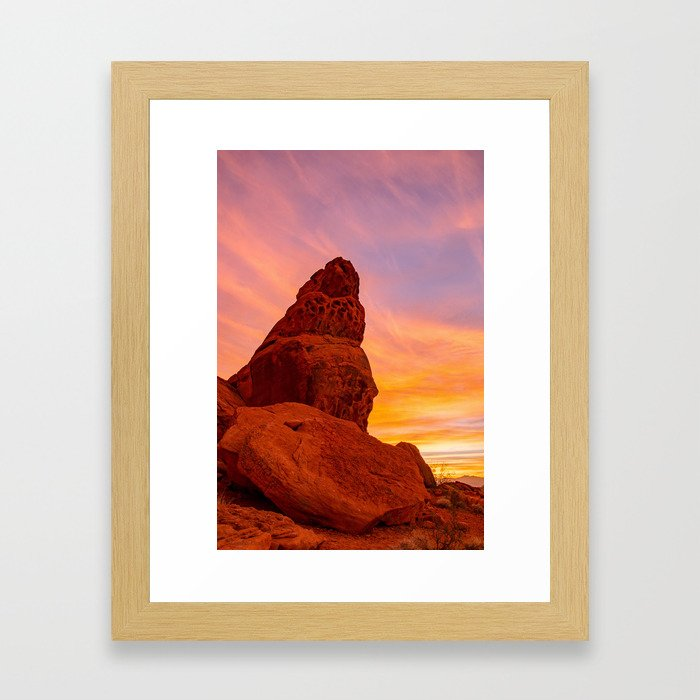 Balanced Rock Sunrise - Valley of Fire Framed Art Print