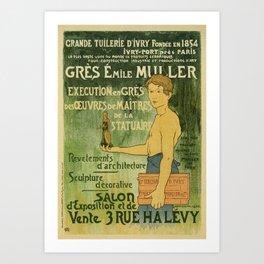 Emile Muller ceramist Paris Art Print