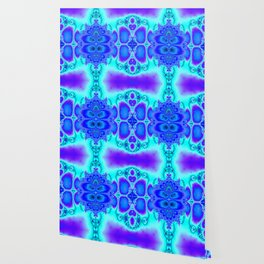 """Electric Purplescape"" Trippy Fractal Art Wallpaper"