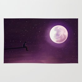 Jimin Serendipity Talking to the Moon Purple Version Rug