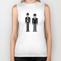 blues brothers Biker Tanks featuring The Blues Brothers by Band Land