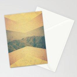 patterned hillside Stationery Cards