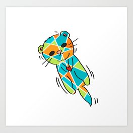 There's No Otter Like You - Cute Loving Otter - 57 Montgomery Ave Art Print