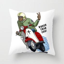 RUDER THAN YOU Throw Pillow