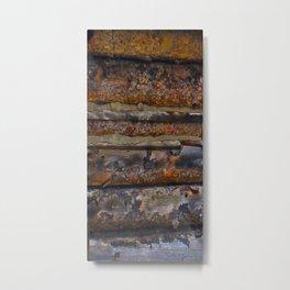 Aged Log Cabin rustic decor Metal Print