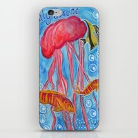 jelly fish iPhone & iPod Skins featuring Jelly Fish by Julie M Studios