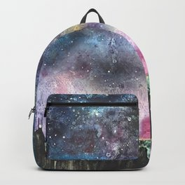 galaxy painting Hong Kong skyline  Backpack
