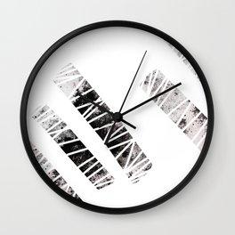 more stripes / black Wall Clock