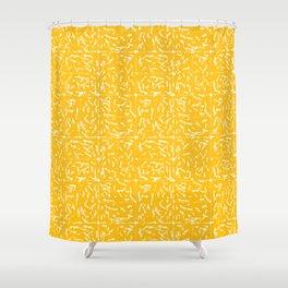 Crosshatch - Mustard Shower Curtain