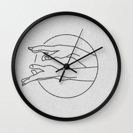 Beckoning Hands (white) Wall Clock