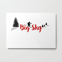 Ski at Big Sky Metal Print