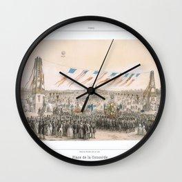 Paris art print Paris Decor office decoration vintage decor PLACE CONCORDE of Paris Wall Clock