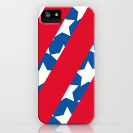 Red Stripes with Blue and Stars iPhone Case