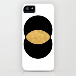 VESICA PISCES CIRCLE ABSTRACT GEOMETRIC SYMBOL iPhone Case