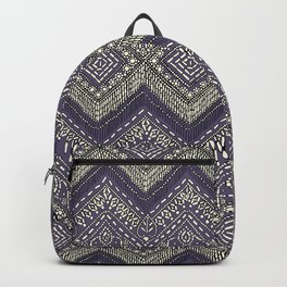 beaded chevron plum Backpack