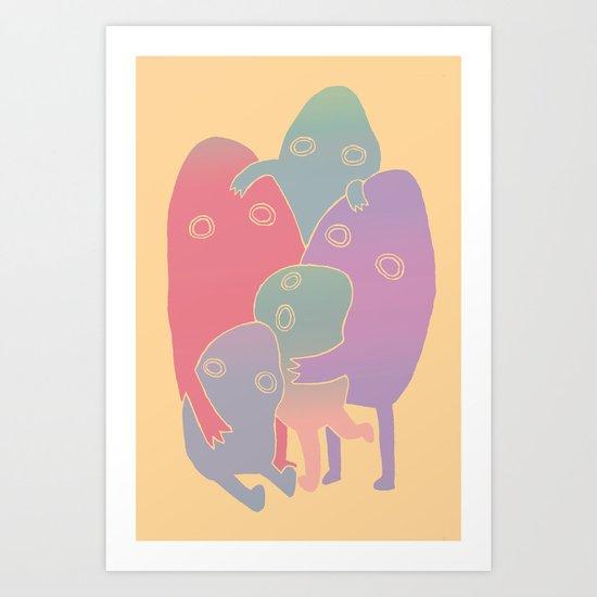 Lump Family Art Print