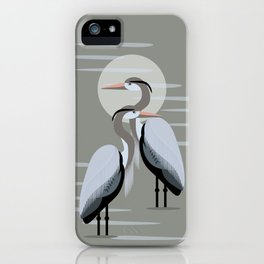 Great Blue Heron Pair iPhone Case