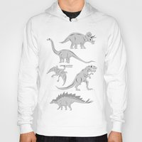 dinosaurs Hoodies featuring Dinosaurs by chobopop