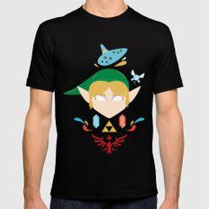 Link LARGE Mens Fitted Tee Black