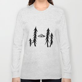 UFO in spruces Long Sleeve T-shirt