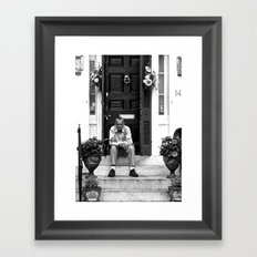 The Captain Needs a Smoke Framed Art Print