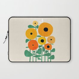 Sunflower and Bee Laptop Sleeve