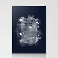 tardis Stationery Cards featuring Tardis by Zach Terrell
