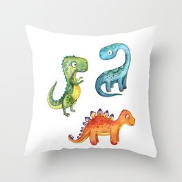 Dino Friends Throw Pillow