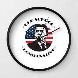 Old School Conservative Ronald Reagan Wall Clock