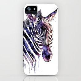 Zebra Head iPhone Case