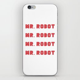 Mr Robot Stickers 4 in 1 iPhone Skin