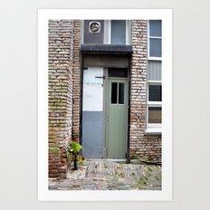 Narrow door Art Print