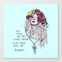 girl power Canvas Prints featuring girl power by HiddenStash Art