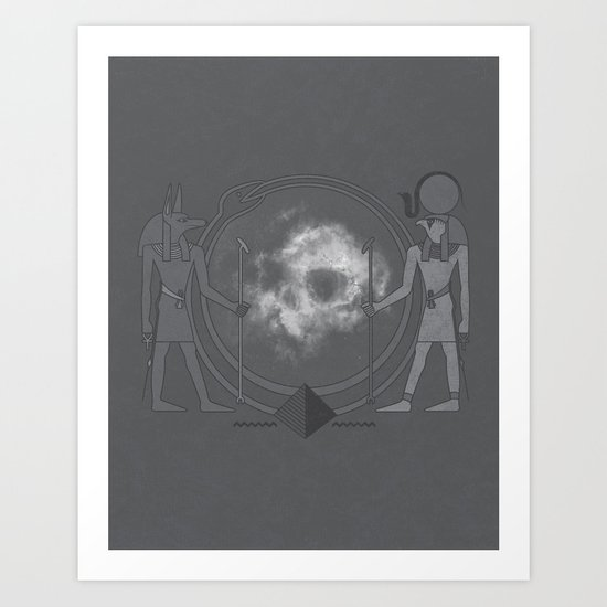 Ancient Guardians of Space and Time Art Print