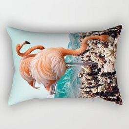 Flamingos In The Desert #society6 #artprints #flamingo Rectangular Pillow