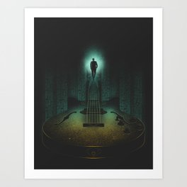 Music is the way Art Print