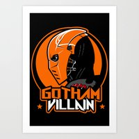 deathstroke Art Prints featuring Villain v2 by Buby87
