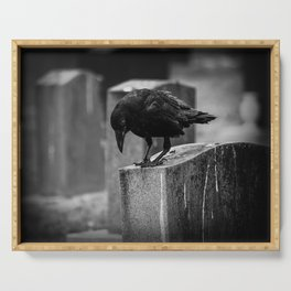 Cemetery Crow Serving Tray