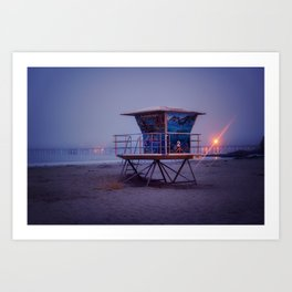 The Blue Hour at Avila Beach Art Print