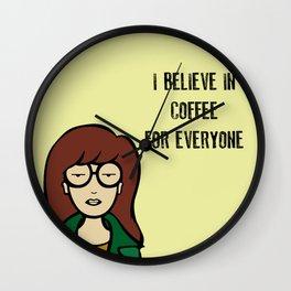 I Believe in Coffee Wall Clock