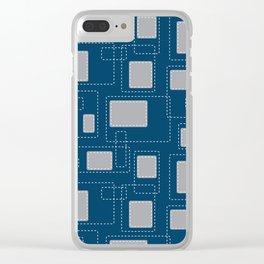 Got Me In Stitches - Blue Clear iPhone Case