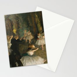 """Edgar Degas """"The Rehearsal of the Ballet Onstage"""" Stationery Cards"""