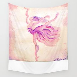 Dancer Pink Wall Tapestry